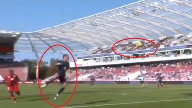 """صورة بالفيديو.. هدف على طريقة """"الكابتن ماجد"""" في الدوري الفرنسي"""