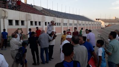 صورة دعما لمؤمن زكريا..مدرب المنيا يحتفل ببقاء فريقه علي طريقه نجم الأهلي