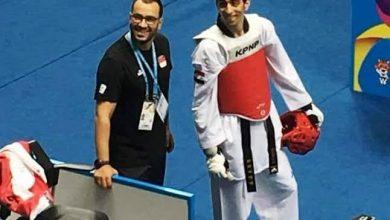 صورة نجم التايكوندو :اتمنى تحقيق ميدالية أولمبية