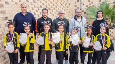 صورة بطلات وادى دجلة للجمباز الفني يحصدن 7 ميداليات بكأس مصر
