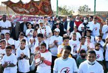 صورة بمشاركة 100 شاب وفتاة وزير رياضة مصر..يشهد مهرجان الرياضة للجميع لأبناء الواحات البحرية
