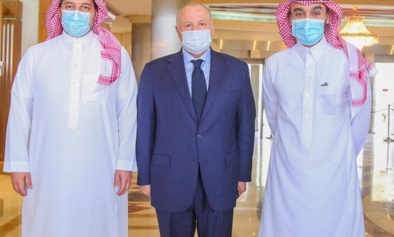 صورة بالصور أبوريدة يلتقي وزير الرياضة السعودي بالرياض
